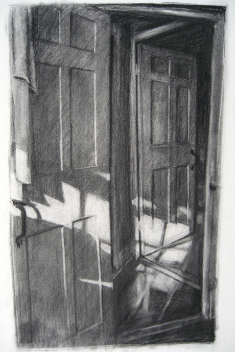 Kristin Flynn Nantucket Drawings Charcoal/paper