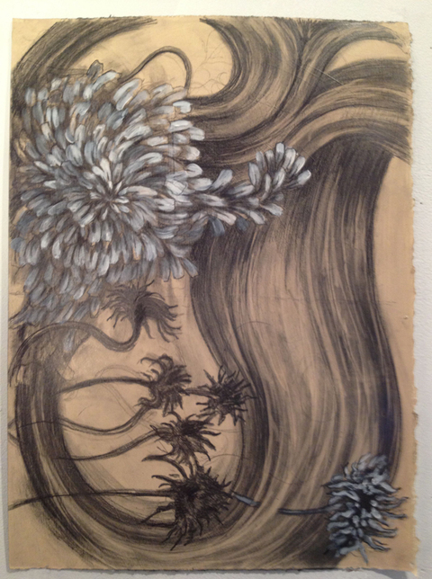 Kristin Flynn Drawings Graphite, gesso/paper
