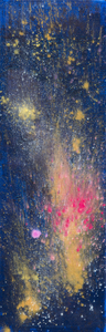 Kristin Schattenfield-Rein We Are All Made Of Stars OIl, Interference, Gold Dust, Enamel, Resin on Enamel