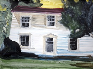 KURT LIGHTNER Homestead Acrylic on Gessoed watercolor paper