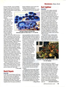 KURT LIGHTNER ARTnews Review Solo Show Clementine Gallery 2006
