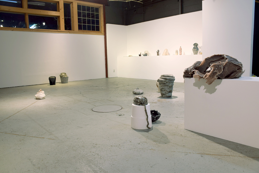Work Installation shot from Thinking Colon at Popps Packing