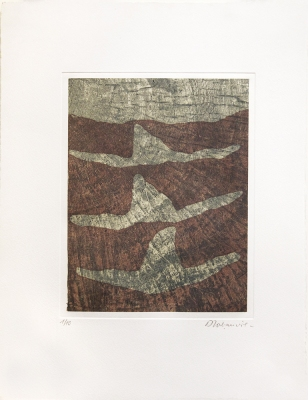 Dominique LABAUVIE Prints Photgravure and Woodcut printed on Kitakata chine collé to Somerset