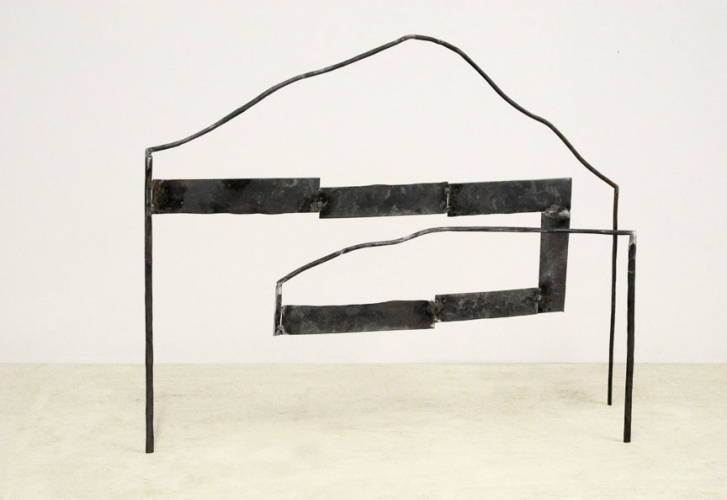 Dominique LABAUVIE Sculpture 2011: Fukushima Series cut and forged steel