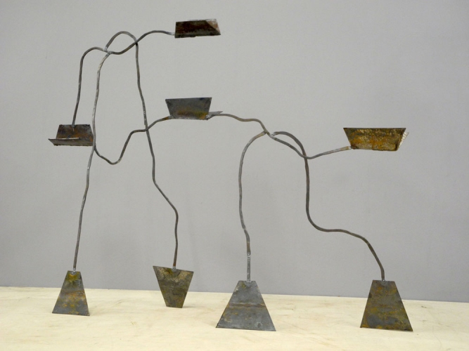 Dominique LABAUVIE Sculpture 2011: Fukushima Series Forged Steel