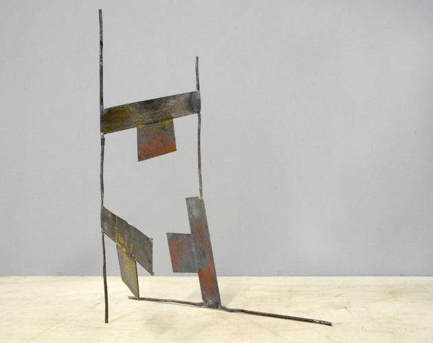 Dominique LABAUVIE Sculpture 2011: Fukushima Series Forged and Cut Steel
