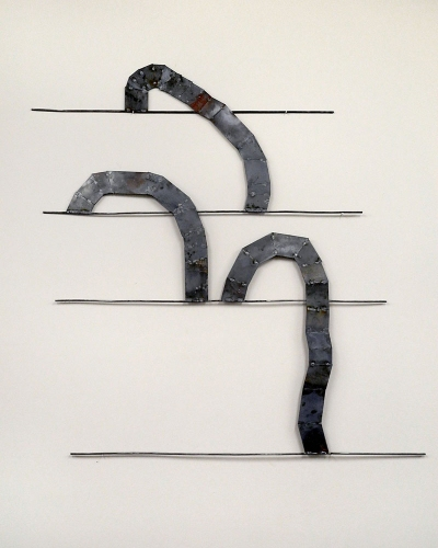 Dominique LABAUVIE Wall Sculptures Forged and Cut Steel