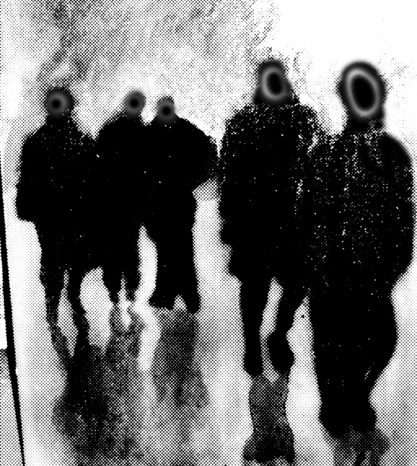 Monoprints Pedestrians #1