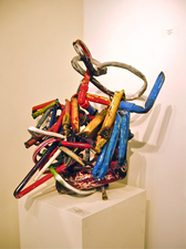 Larry Dell PVC Sculpture PVC Pipe, garden hose, acrylic paint