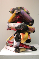 Larry Dell PVC Sculpture PVC pipe, faom rubber, felt, acrylic paint