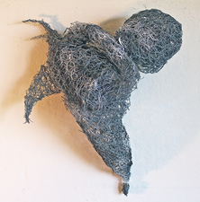 Larry Dell Metal/Fabric Sculpture Chicken wire, steel wire
