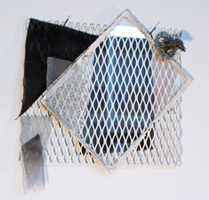 Larry Dell Metal, Glass, Fabric Plate glass, metal mesh, plastic and metal screening, chicken wire