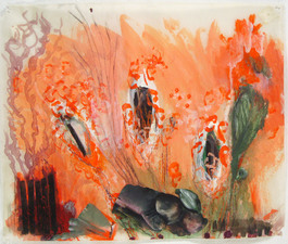 Laura Bell Selected Mixed Media and Works on Paper ink, acrylic, pencil, and photos on both sides of vellum tracing paper
