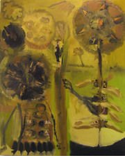 Laura Bell Selected Paintings Oil and photos (Eiffel Tower, landscape, unknown found shots) on canvas