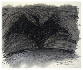 Laura Bell Selected Drawings Charcoal. litho crayon, white china marker on paper