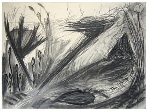 Laura Bell Selected Drawings Charcoal, pencil, black glue on paper