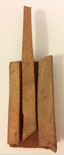 "Laura Bell Selected ""Books"" series Fired clay on found wood"