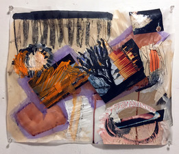 Laura Bell Selected Mixed Media and Works on Paper photos and mixed media on both sides of vellum tracing paper