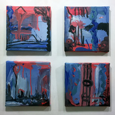 Laura Bell Selected Paintings acrylic and laser prints on canvas