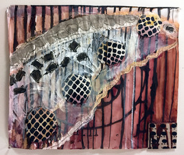 Laura Bell Selected Mixed Media and Works on Paper mixed media on both sides of vellum tracing paper
