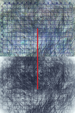 laura p krasnow the_shortest_distance_between_2_points Polaroid and Digital Photograph; Phototex mounted on stretched canvas