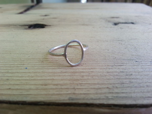 Lightly Hammered: Oval Ring