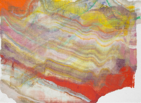Laura Moriarty On Paper Encaustic monotype