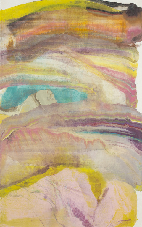 Laura Moriarty On Paper Encaustic monotype on kaji natural