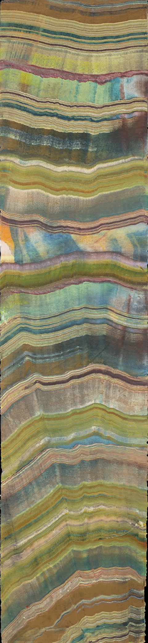 Laura Moriarty On Paper Encaustic on Uda-Gami