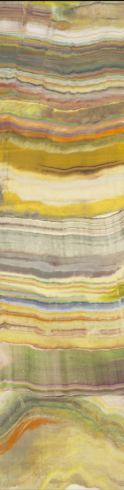Laura Moriarty On Paper Encaustic on sumi scroll