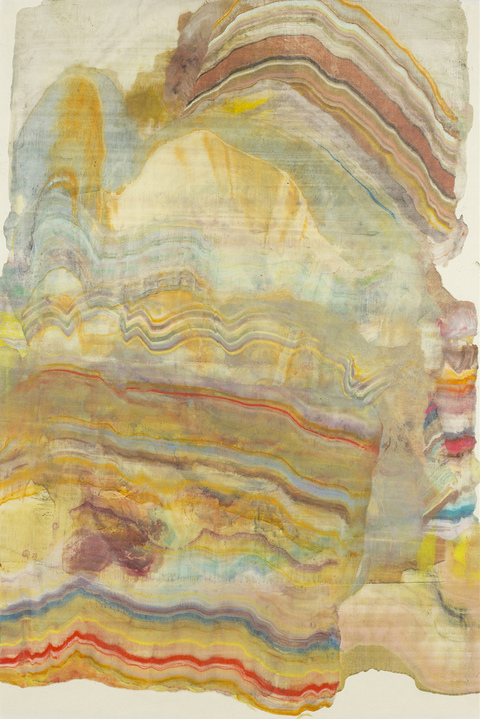 Laura Moriarty On Paper Encaustic monotype on kawashi
