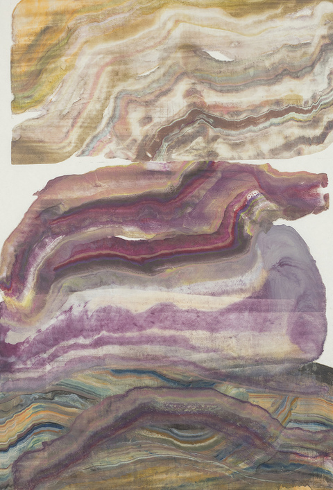 Laura Moriarty On Paper encaustic on paper