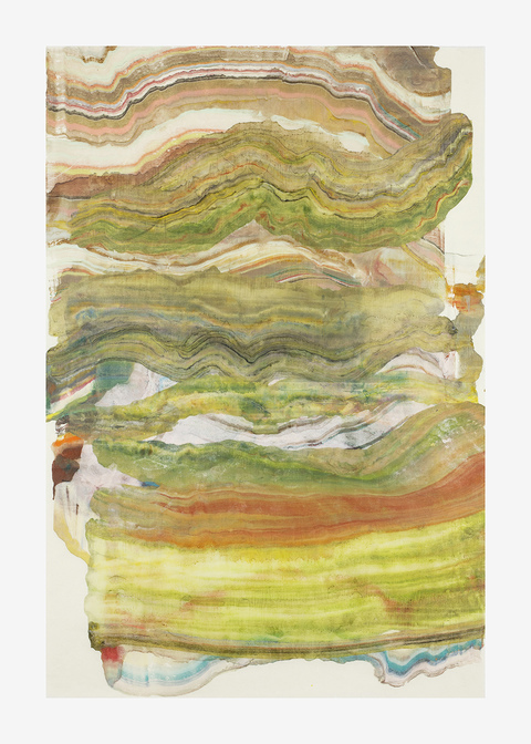 Laura Moriarty On Paper Encaustic on Kawashi