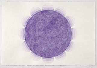 LAURA SUE KING flower targets on paper watercolor, pencil, paper
