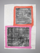 LAURA SUE KING prints Pine board relief print and acrylic on rice paper