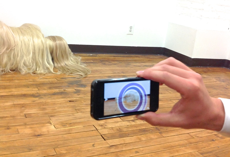 Hair People Reclining hair lady  (Augmented reality)