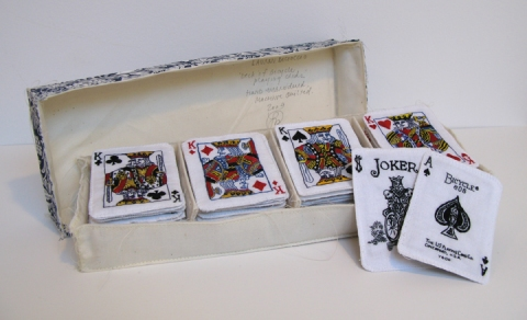 Lauren DiCioccio Playing Cards Face: Hand-embroidery on cotton, Back: machine-quilted cotton