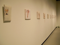 "Lauren DiCioccio ""notions"" at Colgate University's Clifford Art Gallery, May 2009"