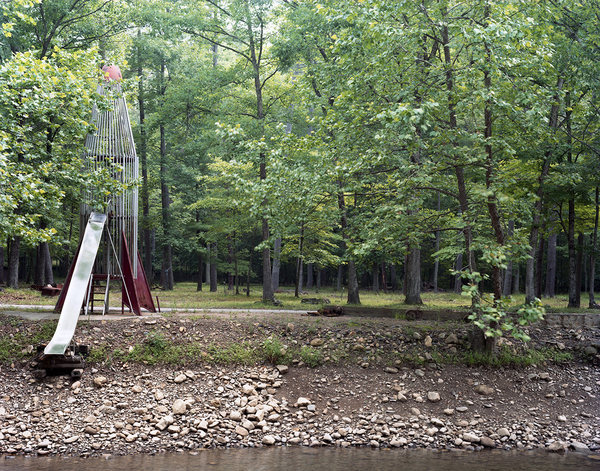 """ROCKET SCIENCE"" Photographs 2004- Ongoing ""Rocket on the Creek, Virginia, Summer"""