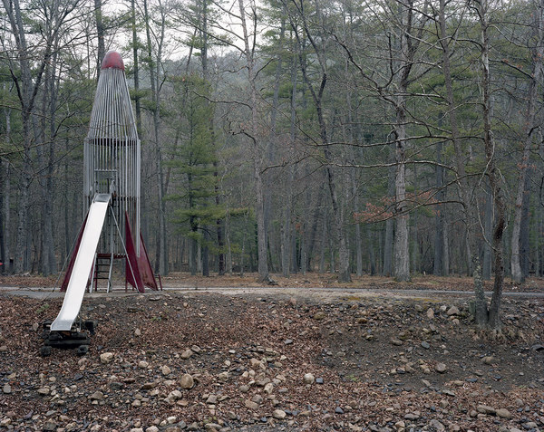 """ROCKET SCIENCE"" Photographs 2004- Ongoing ""Rocket on the Creek, Virginia, Winter"""
