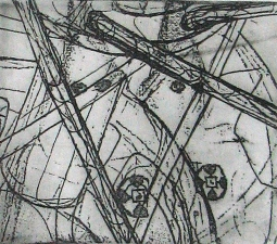 Lauren Kendrick Sleat Prints: etching, carborundum & monotypes soot tinted etching