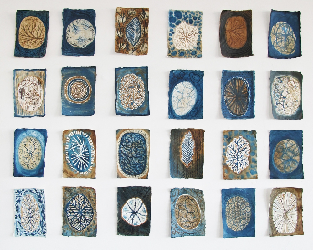 Laurie Olinder Walnut & Indigo drawings walnut & indigo ink on paper