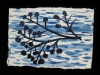 River indigo ink on paper
