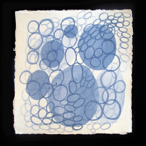 Laurie Olinder Protozoa indigo ink on paper