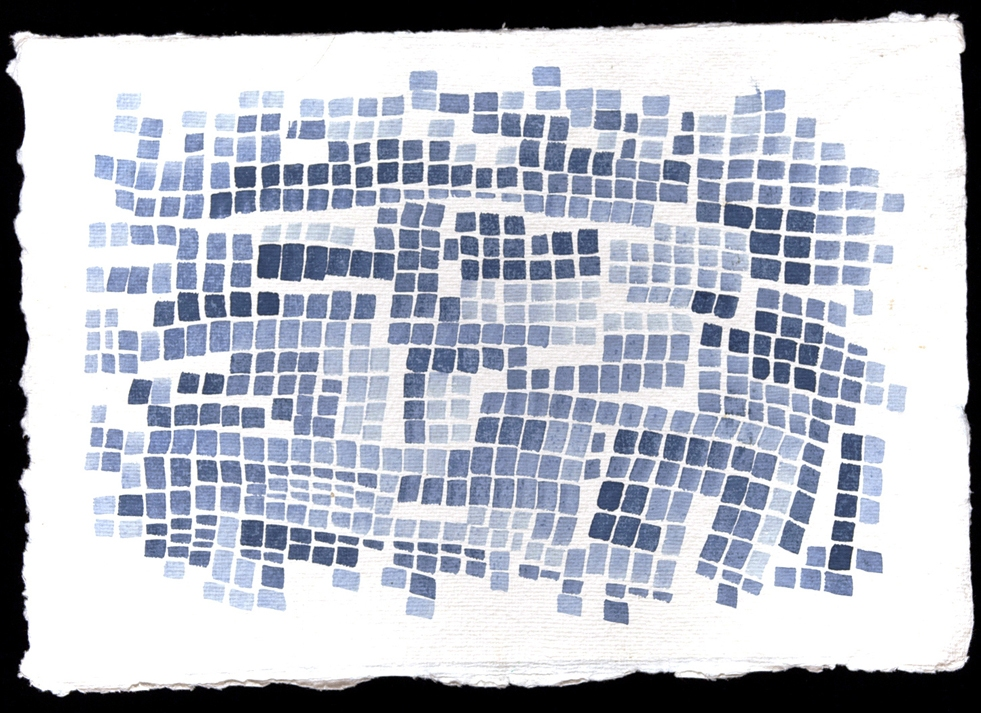 Laurie Olinder Michigan indigo ink on paper