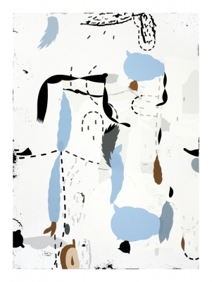 laurie sloan 2005-2010 Archival ink jet print with cut paper