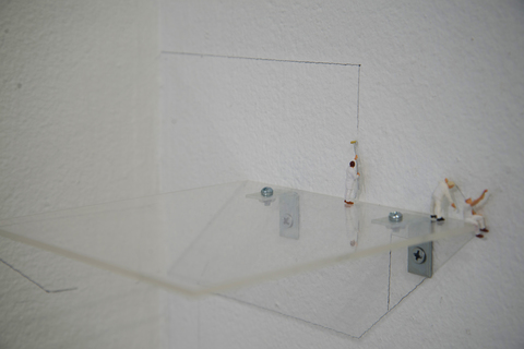 Leah Cooper a narrow gate mixed media installation_installation detail