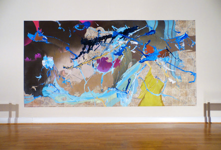 "Leigh Anne Chambers Paintings on vinyl 144"" x 72"""