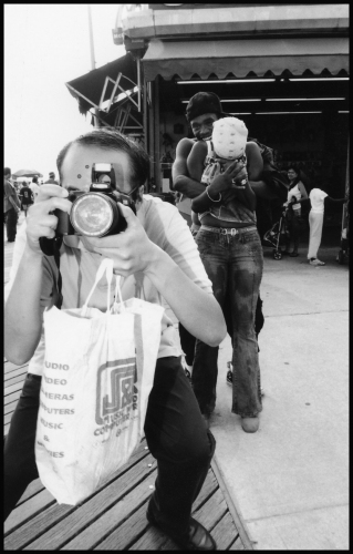 leigh leibel photography coney island, street work gelatin silver print