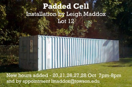 Leigh Maddox Outdoor Works Installation Inside Storage Container